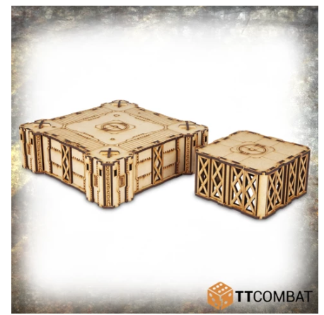 28mm Terrain: (Industrial Hive) Iron Labyrinth Floors