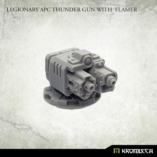 Kromlech Accessories: Legionary APC Thunder Gun with Flamer (1)