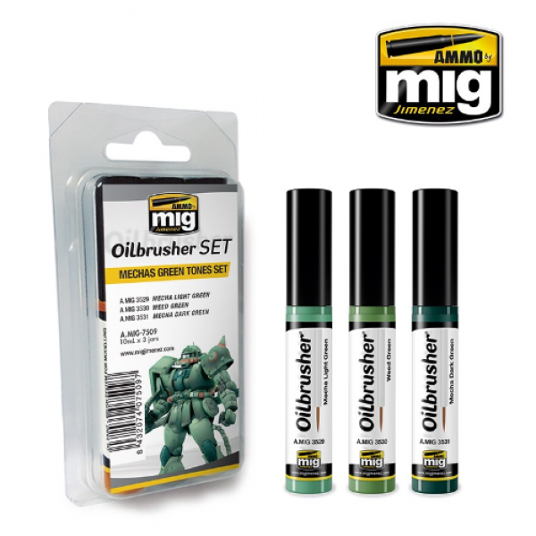 AMMO: Oilbrusher - Mechas Green Tones Set