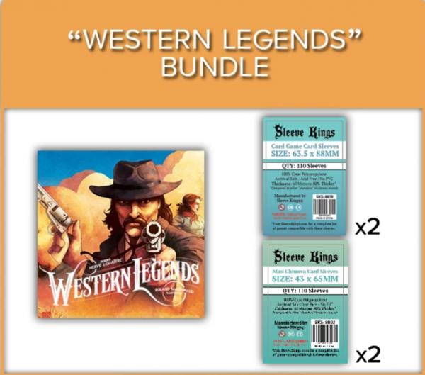 Sleeve Kings: Western Legends Sleeve Bundle (8810 x2 + 8803 x2)