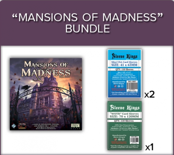 Sleeve Kings: Mansions of Madness (2nd Edition) Sleeve Bundle (8814 x1 + 8801 x2)