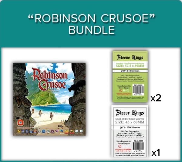 Sleeve Kings: Robinson Crusoe Sleeve Bundle (8808 x2 + 8803 x1)