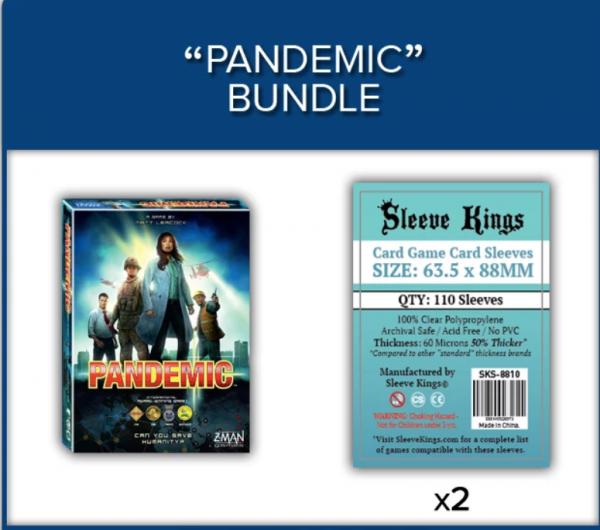 Sleeve Kings: Pandemic Game Sleeve Bundle (8810 x2)