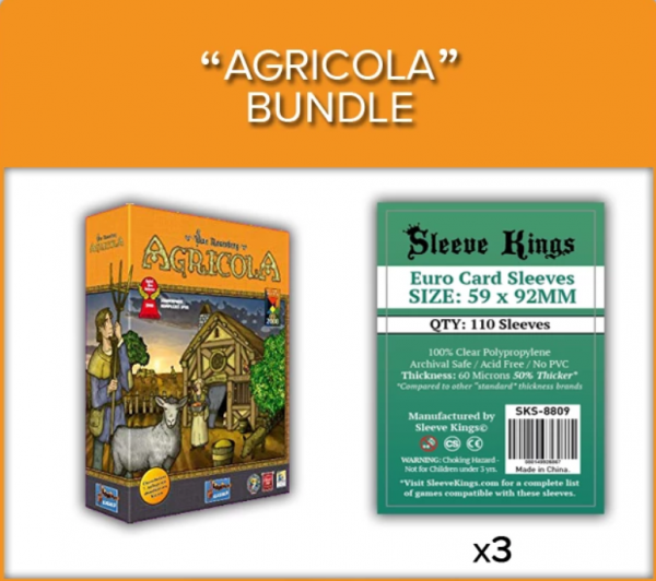 Sleeve Kings: Agricola Base Game Sleeve Bundle (8809 x4)