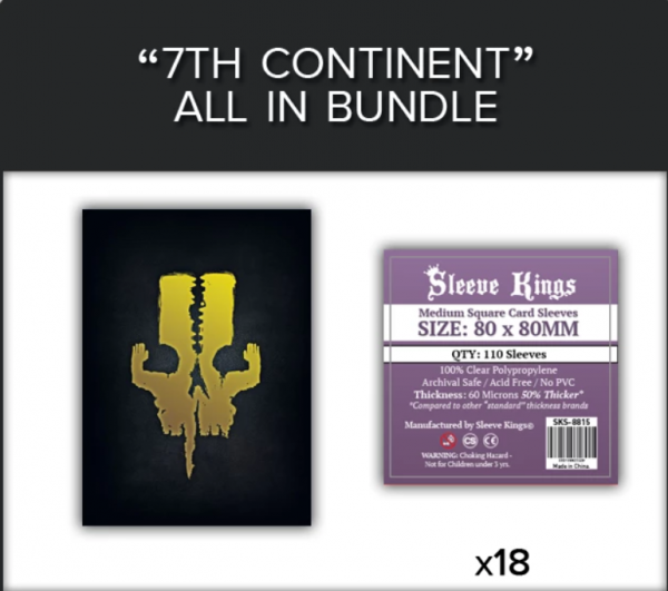 Sleeve Kings: 7th Continent All In Sleeve Bundle (8815 x18)