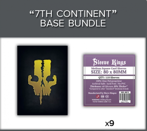 Sleeve Kings: 7th Continent Base Game Sleeve Bundle (8815 x9)
