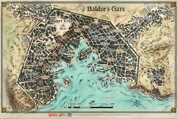 Dungeons & Dragons: Decent into Avernus - Baldur's Gate Map