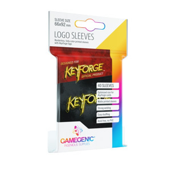 KeyForge Printed Sleeves: Black