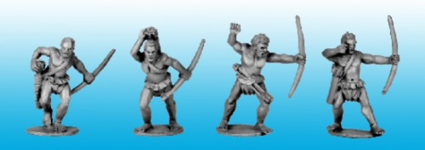 28mm Historical: (Colonial Africa) Congo Tribal Bowmen (4)