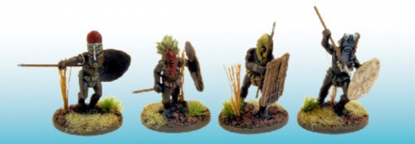 28mm Historical: (Colonial Africa) Congo Tribesmen in Ritual Masks (4)