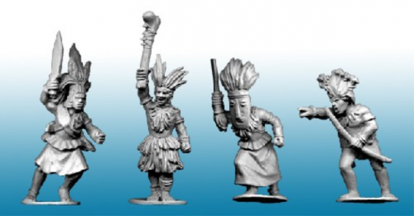 28mm Historical: (Colonial Africa) Congo Tribal War-Chiefs (4)