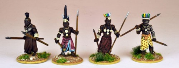 28mm Historical: (Colonial Africa) Ila Chief and Nobles (4)
