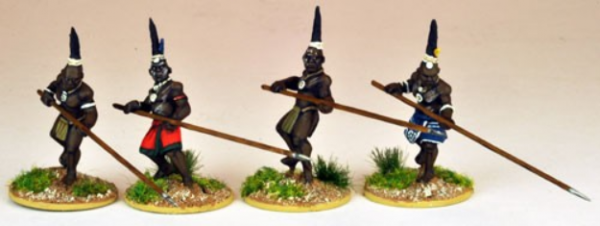 28mm Historical: (Colonial Africa) Ila Warriors Attacking (4)