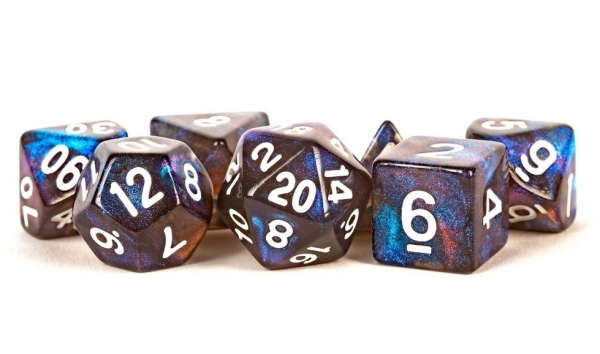 Acrylic Dice Set: 16mm Stardust - Galaxy