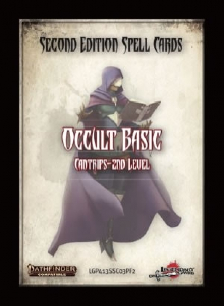 Pathfinder (P2) RPG: Spell Cards - Occult Basic
