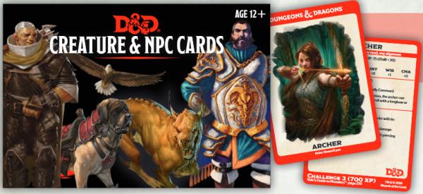 D&D: Creature & NPC Cards (182 cards)