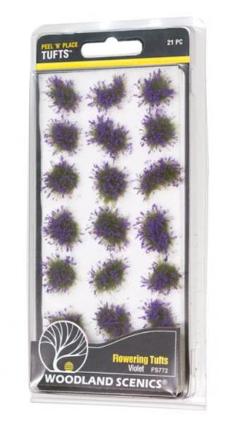 Peel 'n' Place Tufts: Violet Flowering Tufts