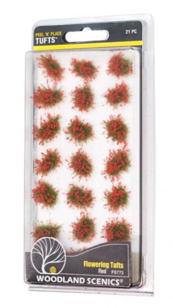 Peel 'n' Place Tufts: Red Flowering Tufts