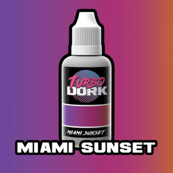 Turbo Dork Paints: Colorshift Acrylic - Miami Sunset (20 ml)