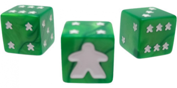 Meeple D6 Dice Set - Green