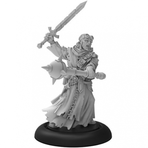 Warmachine:  Morrowan Battle Priest –Order of Illumination Weapon Attachment (1) (metal)