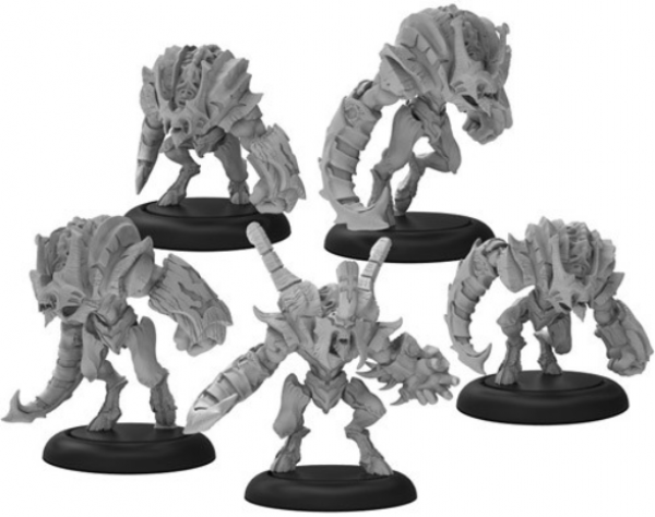 Warmachine: Howlers – Infernal Unit (5) (metal/resin)