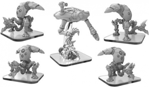 Monsterpocalypse: Reapers & Harvester – Martian Menace Units (5) (metal/resin)