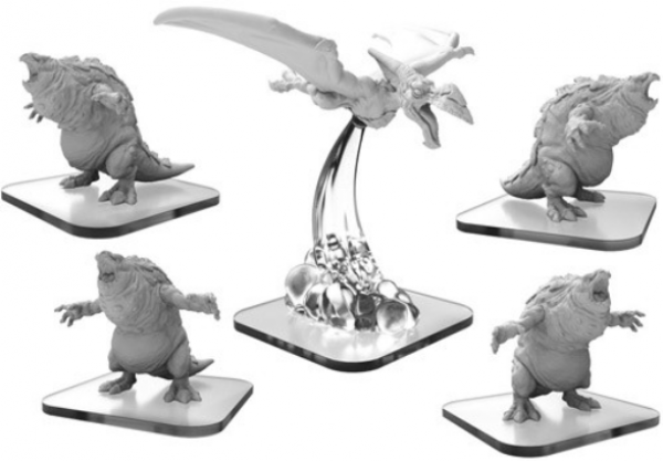Monsterpocalypse: Bellowers & Pteradactix – Terrasaurs Units (5) (metal/resin)