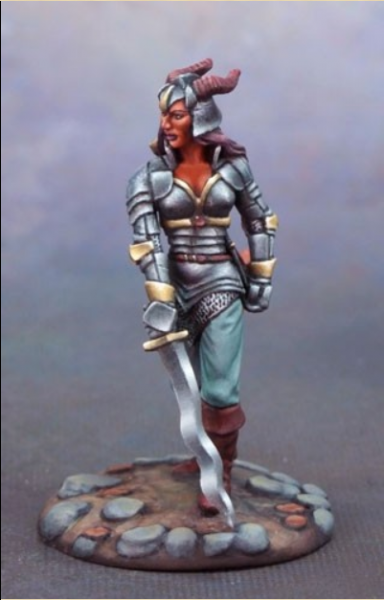 Visions In Fantasy: Female Demonkin Warrior with Sword