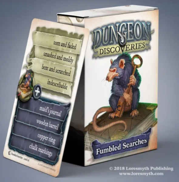 Dungeon Discoveries: Fumbled Searches card deck