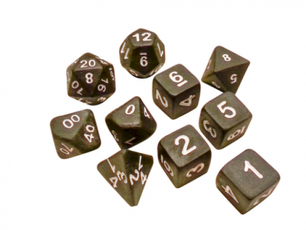Ceramic Dice: Dark Heart Extended Set