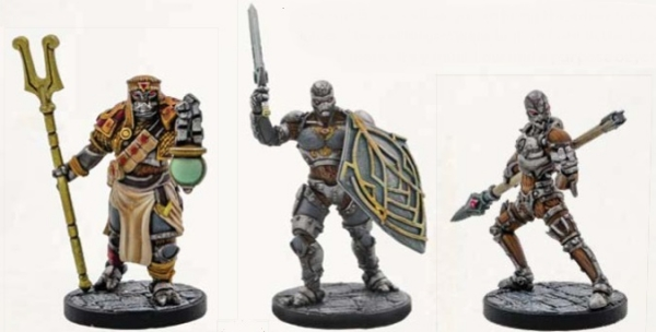 D&D Miniatures: Eberron Warforged Set - Cleric, Fighter and Monk (3)