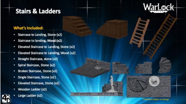 WarLock Dungeon Tiles: Stairs & Ladders