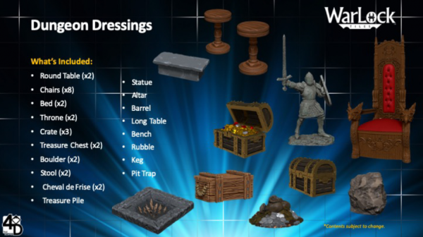 WarLock Dungeon Tiles: Dungeon Dressings