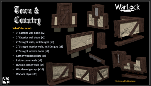 WarLock Dungeon Tiles: Town & Country