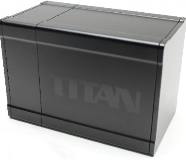 Titan Deck Box (2nd Edition) (Solid Black)