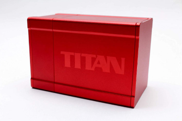 Titan Deck Box (2nd Edition) (Solid Red)