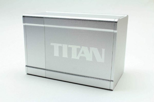 Titan Deck Box (2nd Edition) (Solid Silver)