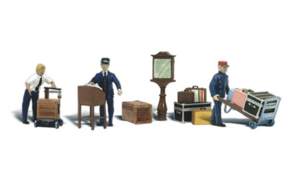 Woodland Scenics Fences: HO Depot Workers & Accessories