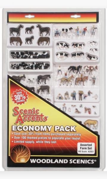Woodland Scenics Fences: HO Economy Pack - Assorted Farm Set