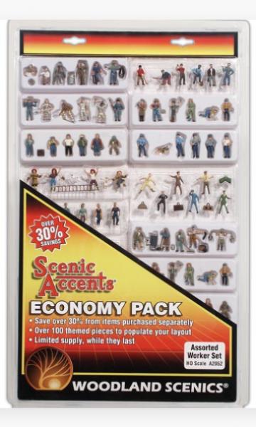 Woodland Scenics Fences: HO Economy Pack - Assorted Worker Set