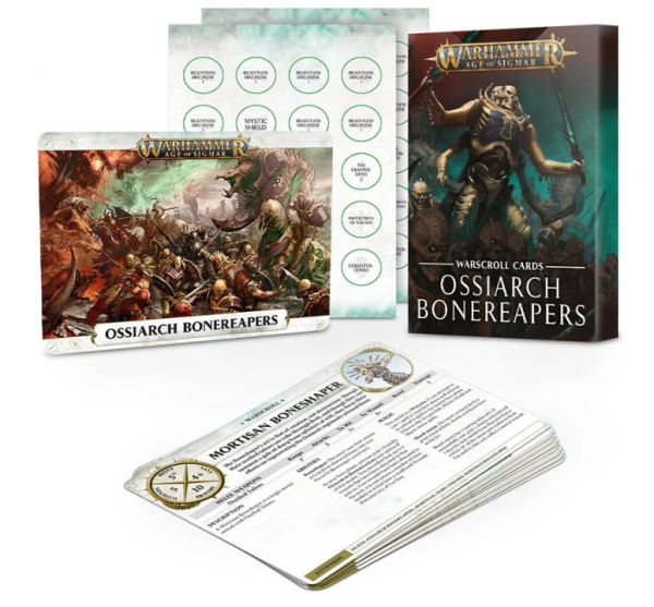 Age of Sigmar: Ossiarch Bonereapers Warscroll Cards