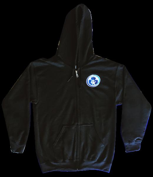 Game Kastle Full Zip Up Hoodie (Black) (XX LARGE)