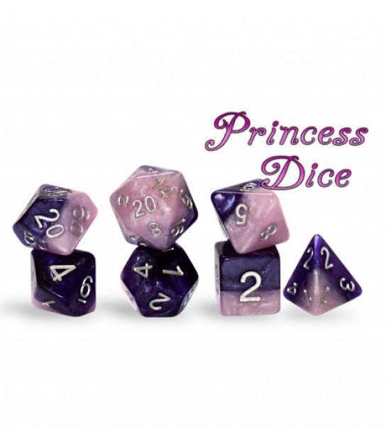 Halfsies Dice: Princess Dice Set
