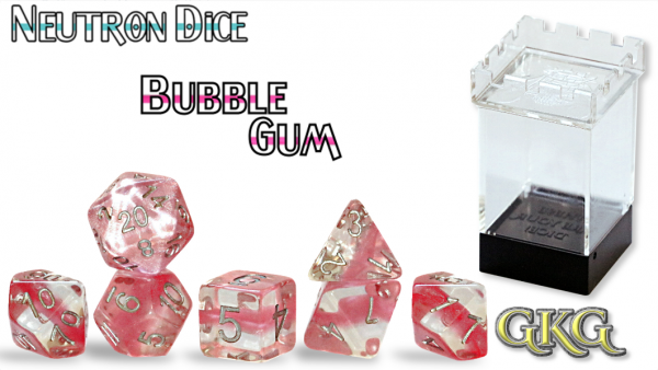 Neutron Dice: Bubble Gum Dice Set