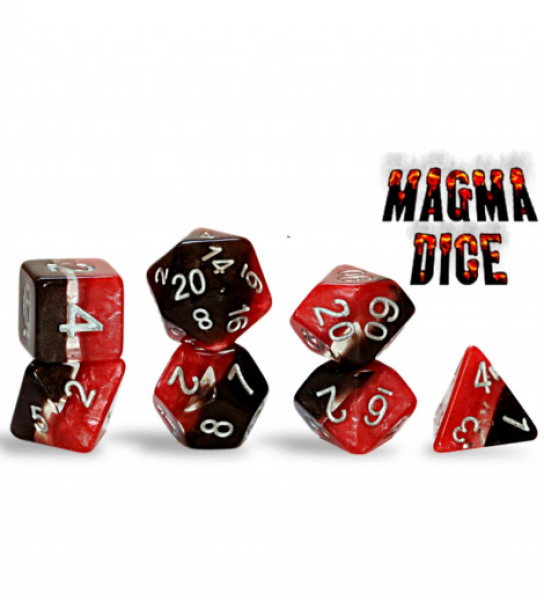 Supernova Dice: Magma Dice Set