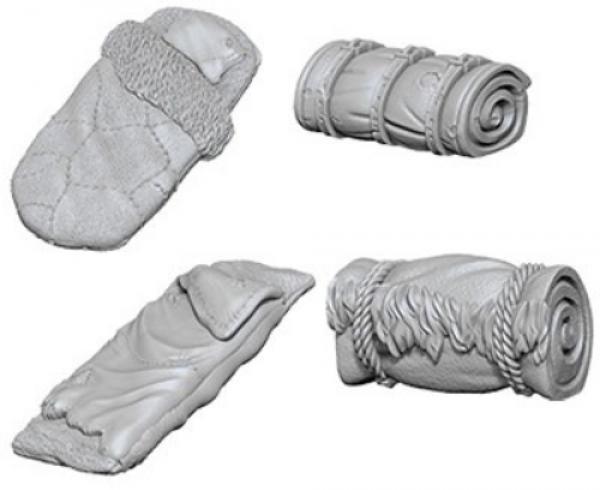 WizKids Deep Cuts Unpainted Miniatures: Bedrolls (4)