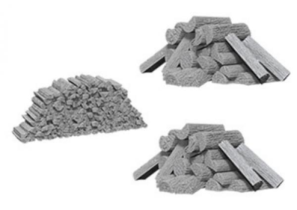 WizKids Deep Cuts Unpainted Miniatures: Piles of Wood