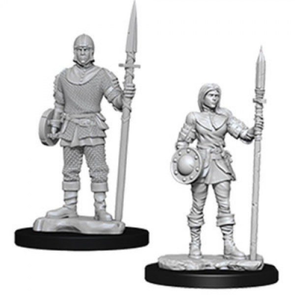 WizKids Deep Cuts Unpainted Miniatures: Guards (2)