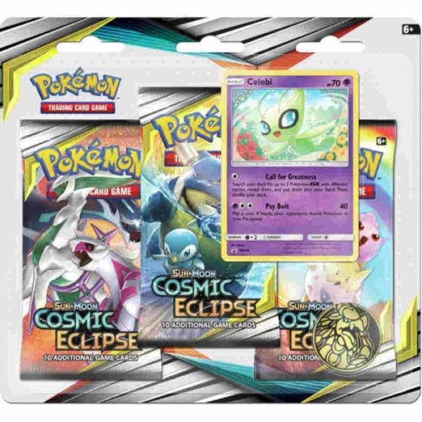 Pokemon CCG: Sun & Moon: Sun & Moon 12 Cosmic Eclipse 3-Booster Blister